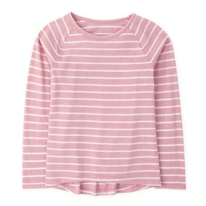 NWT PLACE Rose Pink Striped Long Sleeve Top M 7/8